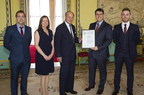 Prince Philip presents Royal Award to Herdwatch